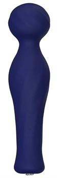 Синий вибромассажер KRATOS - 17 см.