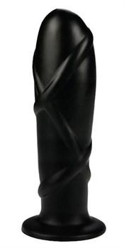 Черный анальный фаллоимитатор SMOOTH TORPEDO - 16 см.