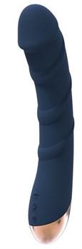 Синий вибромассажер ATLAS - 17 см.
