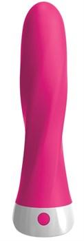 Розовый вибромассажер со сменной присоской Wall Banger Deluxe - 19 см.