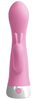Розовый вибратор-кролик со съемной присоской Wall Banger Rabbit - 19,9 см.