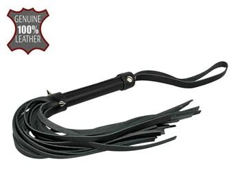 Черная многохвостовая плеть с шипами - 40 см.