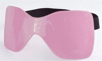 Розовая лаковая маска на резиночке