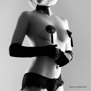 Черные пэстисы Bijoux Indiscrets с кисточками