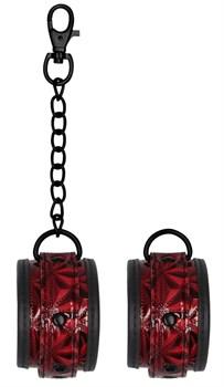 Красно-черные наручники Luxury Hand Cuffs