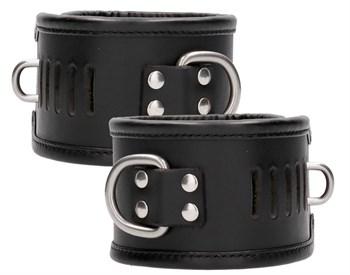 Черные поножи Restraint Ankle Cuff With Padlock