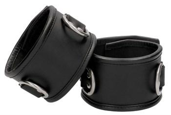 Черные наручники Restraint Handcuff With Padlock с замочком
