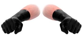 Черные латексные перчатки для фистинга Latex Short Glove