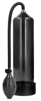 Черная ручная вакуумная помпа для мужчин Classic Penis Pump