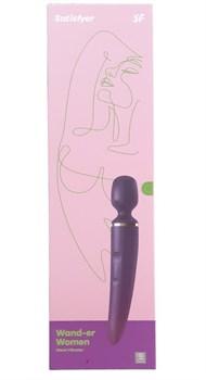 Фиолетовый вибратор Satisfyer Wand-er Woman