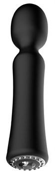 Черный универсальный массажер Wand Pearl - 20 см.