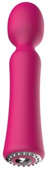 Розовый универсальный массажер Wand Pearl - 20 см.