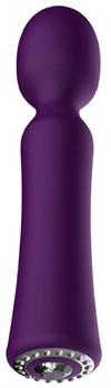 Фиолетовый универсальный массажер Wand Pearl - 20 см.
