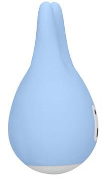 Голубой клиторальный стимулятор Sugar Bunny - 9,5 см.
