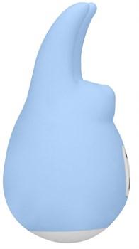 Голубой клиторальный стимулятор Love Bunny - 9,4 см.