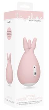 Розовый клиторальный стимулятор Luscious с тремя отростками
