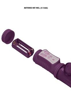 Фиолетовый вибратор-кролик Rotating Dolphin - 23 см.