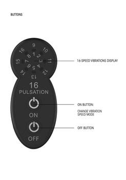 Черный универсальный массажер Silicone Massage Wand - 20 см.