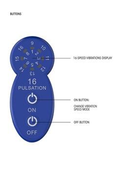 Синий универсальный массажер Silicone Massage Wand - 20 см.