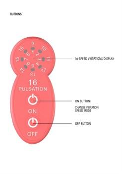 Розовый универсальный массажер Silicone Massage Wand - 20 см.