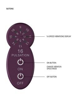 Фиолетовый универсальный массажер Silicone Massage Wand - 20 см.
