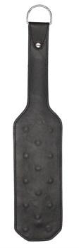 Черная шлепалка Leather Vampire Paddle - 41 см.
