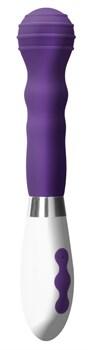 Фиолетовый вибромассажер Alida - 21 см.