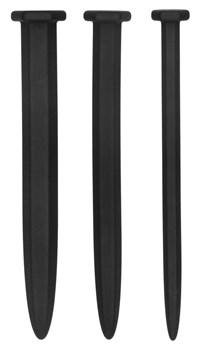 Набор из 3 гладких стимуляторов уретры Silicone Rugged Nail Plug Set