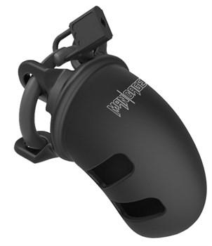 Черный мужской пояс верности Cock Cage Model 14 Chastity 2.5