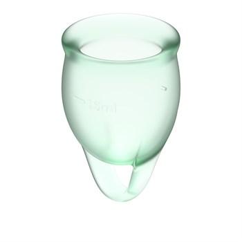 Набор зеленых менструальных чаш Feel confident Menstrual Cup