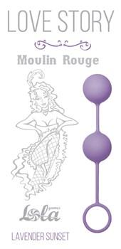Сиреневые вагинальные шарики Love Story Moulin Rouge