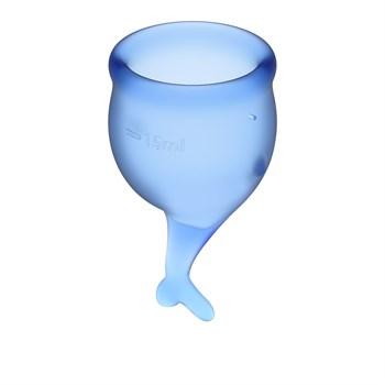 Набор синих менструальных чаш Feel secure Menstrual Cup