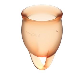 Набор оранжевых менструальных чаш Feel confident Menstrual Cup