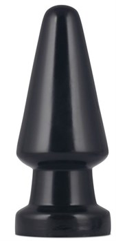 Черная анальная пробка King-Sized Anal Shocker - 19 см.
