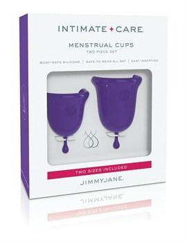 Набор из 2 фиолетовых менструальных чаш Intimate Care Menstrual Cups