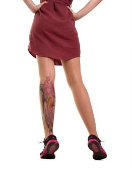 Телесные колготки с имитацией тату в виде девушки-кошки