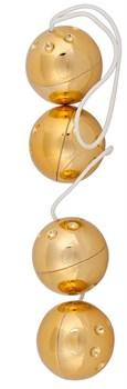 Золотистые вагинальные шарики Lust Kette