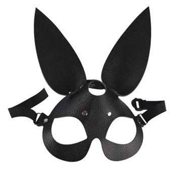 Черная кожаная маска  Зайка