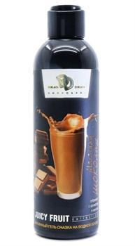 Интимный гель-смазка JUICY FRUIT с ароматом молочного шоколада - 200 мл.