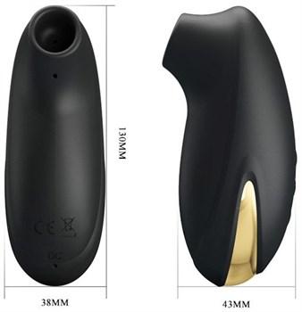 Черный вакуумный стимулятор клитора Otis