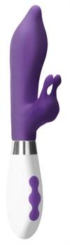 Фиолетовый вибратор-кролик Adonis - 22 см.
