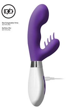 Фиолетовый вибратор-кролик Ares - 21,5 см.