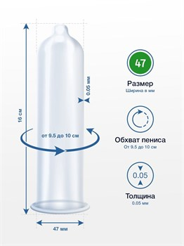 Презервативы MY.SIZE размер 47 - 36 шт.