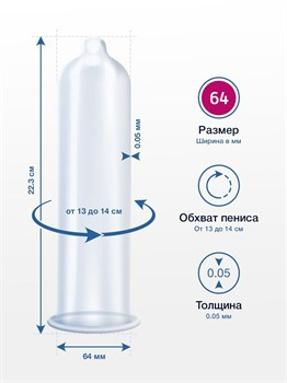 Презервативы MY.SIZE размер 64 - 36 шт.