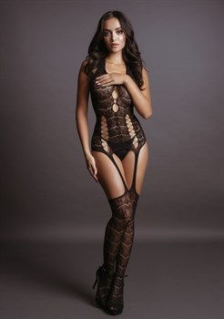 Оригинальный боди-комбинезон Lace Suspender Bodystocking