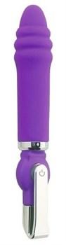 Фиолетовый вибратор ALICE 20-Function Desire Vibe - 16 см.