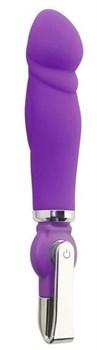 Фиолетовый вибратор ALICE 20-Function Penis Vibe - 17,5 см.
