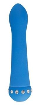 Голубой вибратор SPARKLE SUCCUBI  BLISS CARESSING VIBE - 14,2 см.