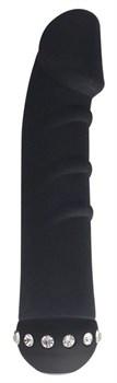 Черный вибратор SPARKLE SUCCUBI VIBRATING DONG - 14,5 см.