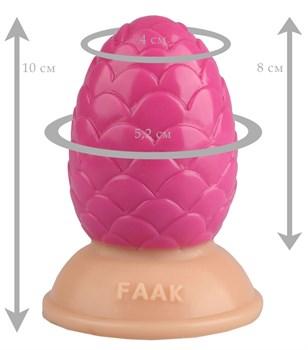 Розовая анальная втулка-шишка - 10 см.